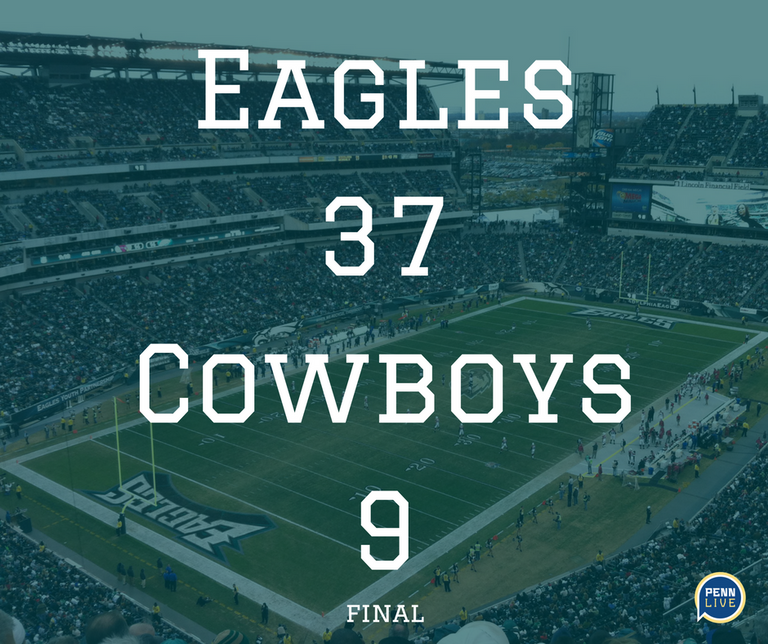 Philadelphia Eagles At Dallas Cowboys Live Score Updates And