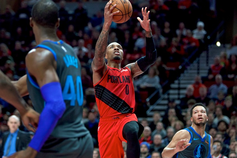 portland trail blazers beat dallas mavericks 121 118 in ot box